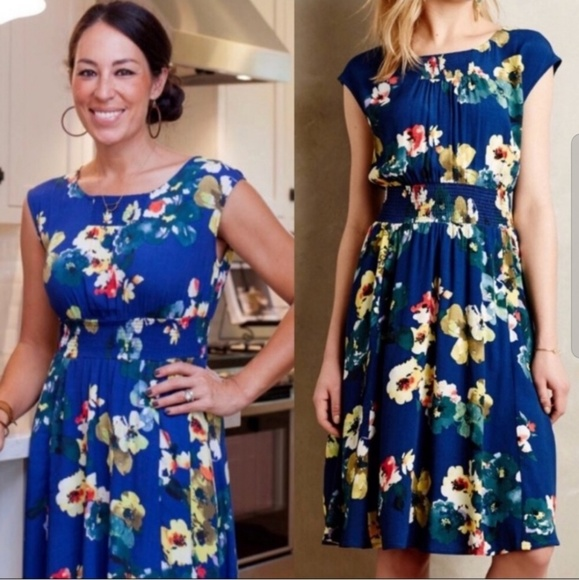 Anthropologie Dresses & Skirts - Anthro Maeve Evaline floral smocked dress pockets